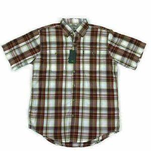 GH Bass Mens Short Sleeve Button Shirt Pockets